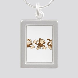 No Evil Monkey Necklaces