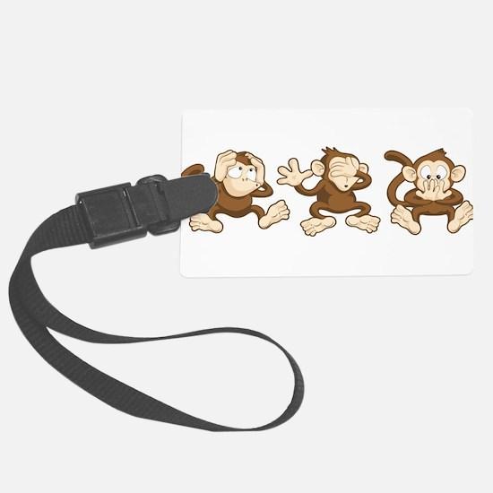 No Evil Monkey Luggage Tag
