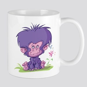 Purple Cartoon Monkey Mug
