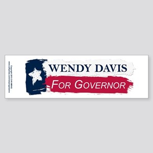 Wendy Davis Governor Texas Flag Sticker (Bumper)