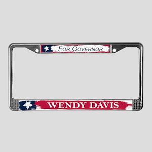 Wendy Davis Governor Texas Flag License Plate Fram