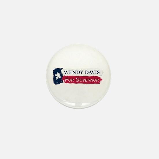 Wendy Davis Governor Texas Flag Mini Button