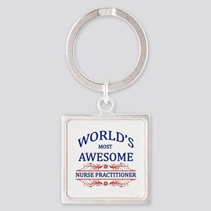 World's Most Awesome Nurse Practitioner Square Key