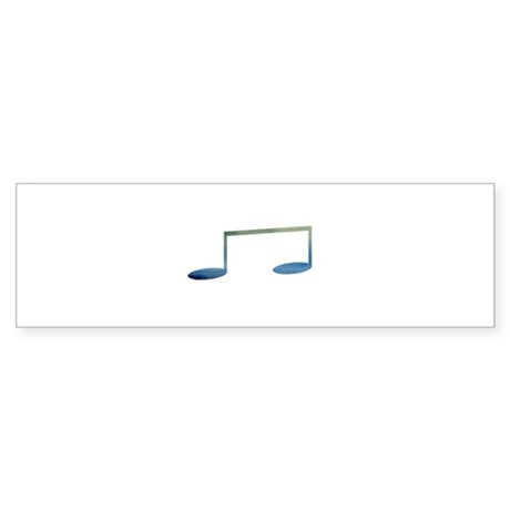 Eighth notes blue green cloudy Bumper Sticker