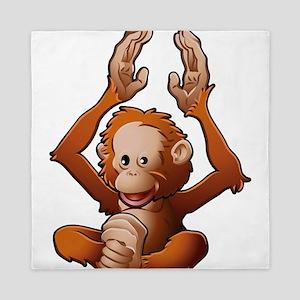 Baby Orangutan Queen Duvet