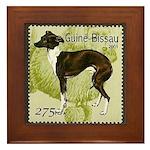 Italian Greyhound Stamp Framed Tile
