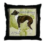 Italian Greyhound Stamp Throw Pillow