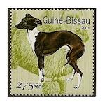 Italian Greyhound Stamp Tile Coaster