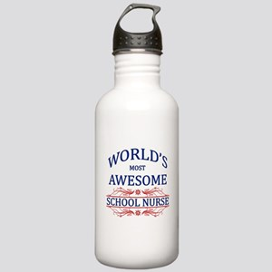 World's Most Awesome School Nurse Stainless Water