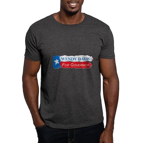Wendy Davis Governor Flag Texas Dark T-Shirt