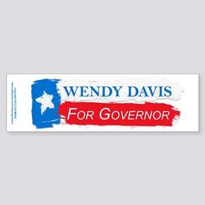 Wendy Davis Governor Flag Texas Sticker (Bumper)