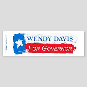 Wendy Davis Governor Flag Texas Sticker (Bumper)