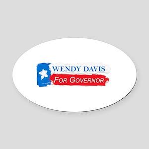 Wendy Davis Governor Flag Texas Oval Car Magnet