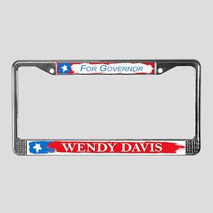 Wendy Davis Governor Flag Texas License Plate Fram