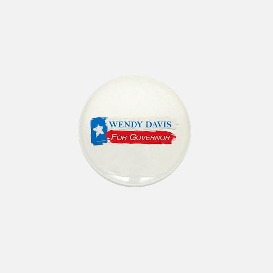 Wendy Davis Governor Flag Texas Mini Button