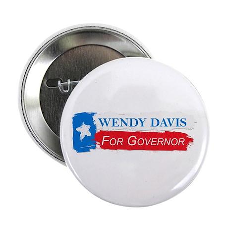"""Wendy Davis Governor Flag Texas 2.25"""" Button"""