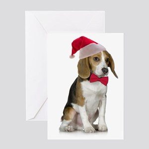 Santa Beagle Christmas Card