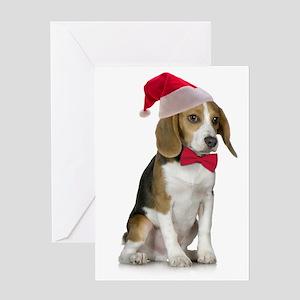 Dog christmas greeting cards cafepress santa beagle christmas card m4hsunfo