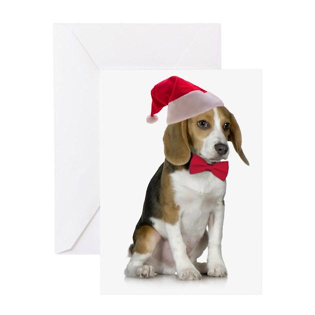 Santa Beagle Christmas Card By Shopdoggifts