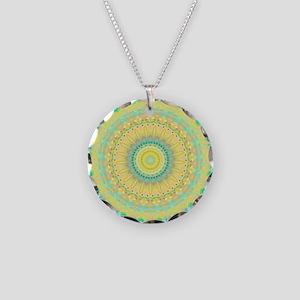Fresh Yellow mandala Necklace Circle Charm
