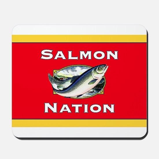 salmon nation flag Mousepad