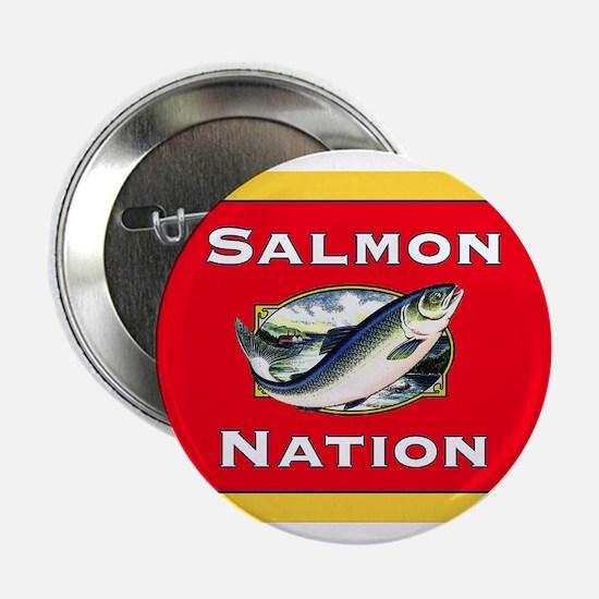 """salmon nation flag 2.25"""" Button"""