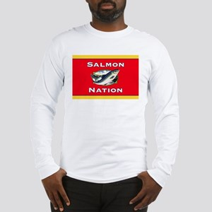 salmon nation flag Long Sleeve T-Shirt
