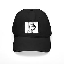 Kokopelli Rock Climber Black Cap