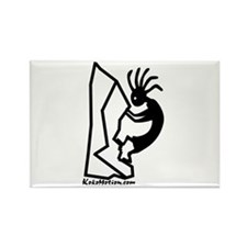 Kokopelli Rock Climber Rectangle Magnet (100 pack)