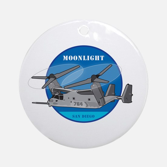 Moonlight V-22 Ornament (Round)