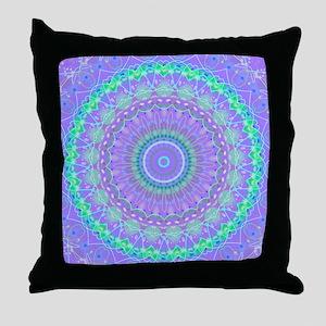 Funky Fresh Purple Mandala Throw Pillow