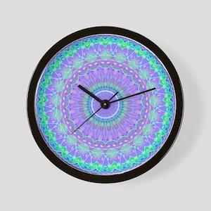 Funky Fresh Purple Mandala Wall Clock