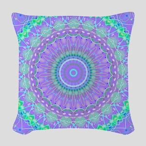 Funky Fresh Purple Mandala Woven Throw Pillow