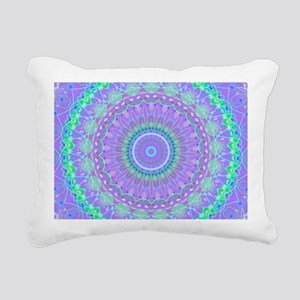 Funky Fresh Purple Mandala Rectangular Canvas Pill