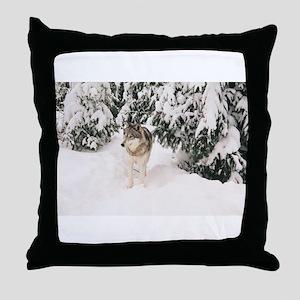 """The Greywolf"" Throw Pillow"