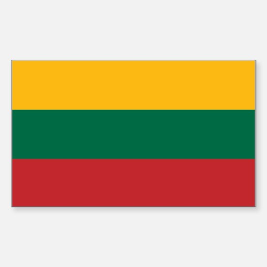 Flag of Lithuania Sticker (Rectangle)