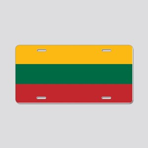 Flag of Lithuania Aluminum License Plate