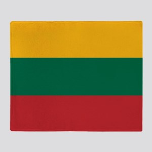 Flag of Lithuania Throw Blanket