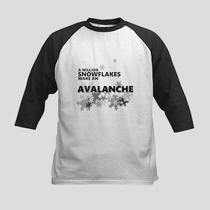 Million Snowflakes Avalanche Baseball Jersey