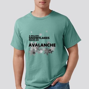 Million Snowflakes Avalanche Mens Comfort Colors S