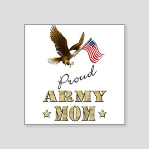 Proud Army Mom - Eagle Flag Sticker