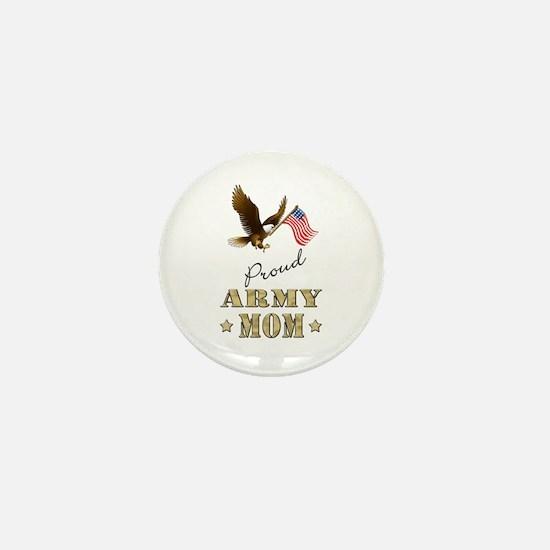 Proud Army Mom - Eagle Flag Mini Button