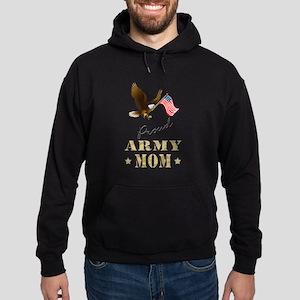 Proud Army Mom - Eagle Flag Hoodie
