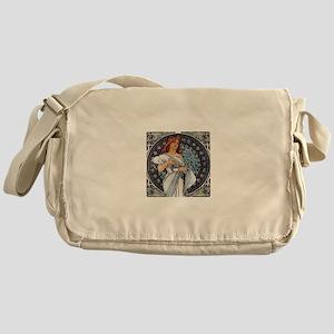 Mucha art deco Messenger Bag