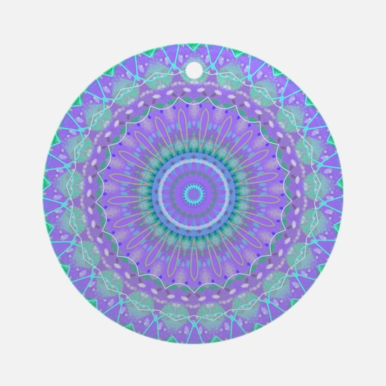 Funky Fresh Purple Mandala Ornament (Round)