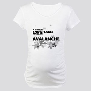 Million Snowflakes Avalanche Maternity T-Shirt