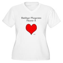 Bridge players have a heart Plus Size T-Shirt