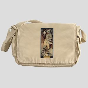 Mucha Winter Art Nouveau Messenger Bag