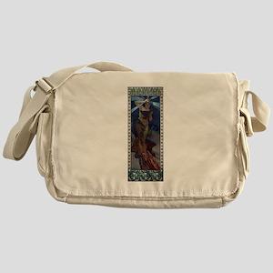 Mucha morning star art nouveau woman Messenger Bag