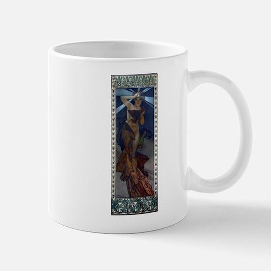 Mucha morning star art nouveau woman Mug
